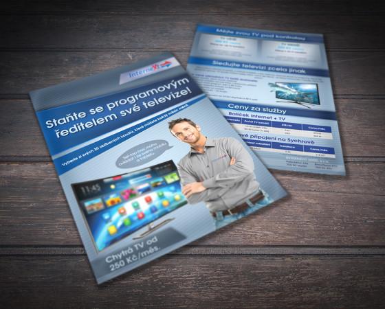 Reklamní leták Internext