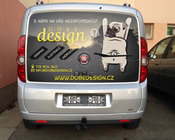 Návrh reklamní samolepky na auto