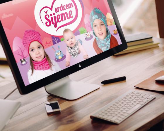Branding graphic – Šijeme srdcem